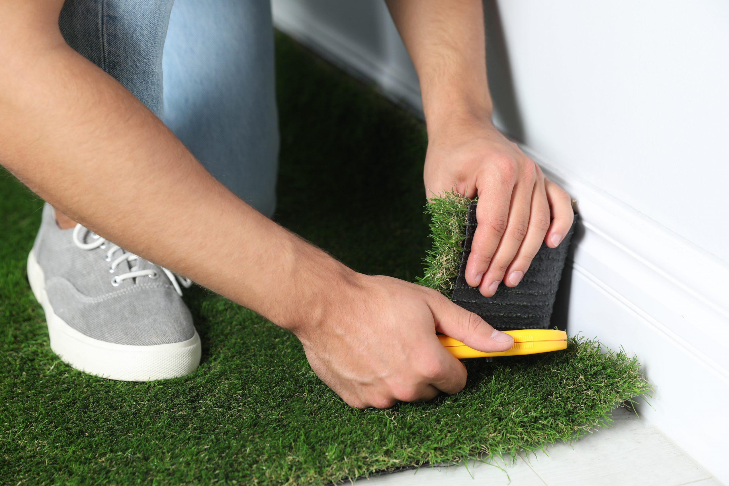 התקנה עצמאית דשא סינטטי