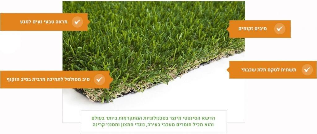 דשא סינטטי סיב כפול