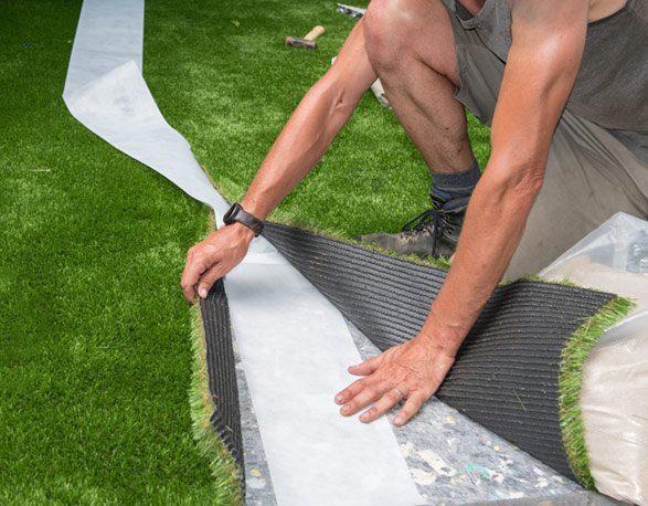 דשא סינתטי התקנה