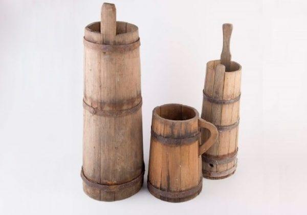 כלי עץ עתיקים en